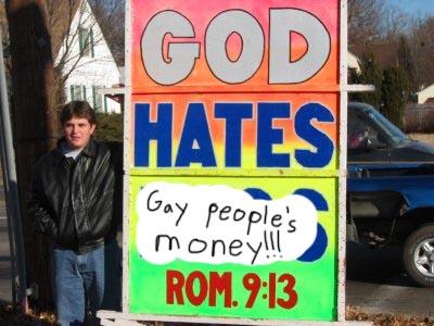 God Hates Gay Peoples Money