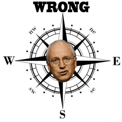 Dick Cheney Magnetic Wrong